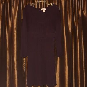 Ann Taylor Loft Dark Purple sz 10 Dress